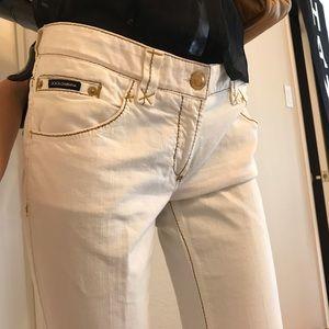 Dolce & Gabbana D&G Ivory strait jeans 44 -8